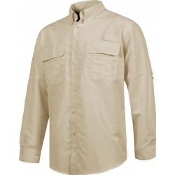 Chemise manches longues beige
