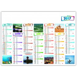 calendrier 2017 format 570 x 410 mm