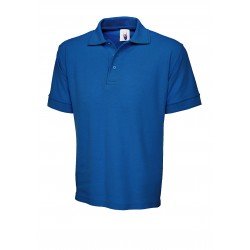 Polo en coton bleu royal