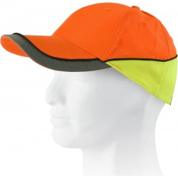 Casquette orange H.V/jaune H.V