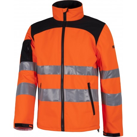 Veste orange H.V / noir