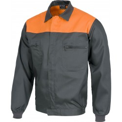 Blouson gris / orange
