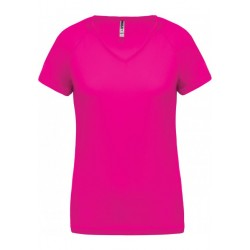 T-shirt technique fuchsia