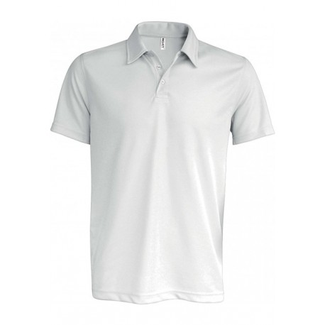 Polos Cool Plus manches courtes homme blanc